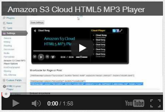 Amazon S3 Cloud HTML5 MP3 Player